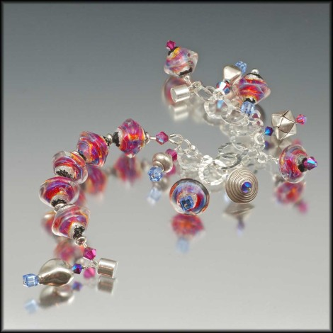 Deal of the Day - Fuchsia Sparkle Braclet